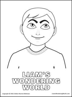 Liam's Wondering World Coloring Pages