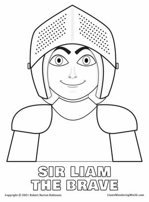 Sir Liam in Armour coloring page.jpg
