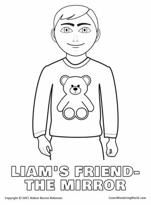 Liam's The Mirror coloring page.jpg