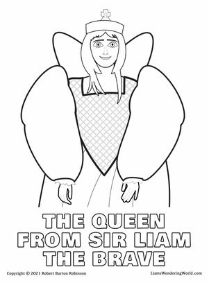 The Queen from Sir Liam The Brave colori