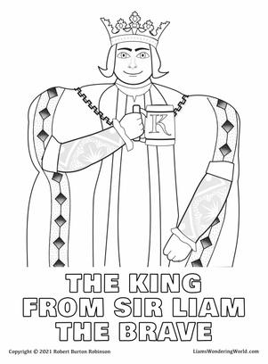 The King from Sir Liam The Brave colorin