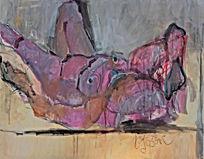 Acryl auf LW 80 x 100 cm WVZ.Nr. AL-2019/18