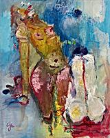 Acryl auf LW 100  x 80 cm WVZ.Nr. AL-201
