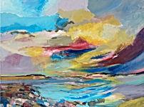 """""""Rügen Himmel"""" Acryl auf Leinwand 60 x 80 cm 2019"""