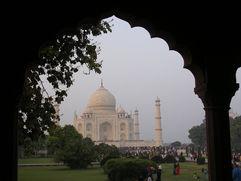 India, Taj Under Arches
