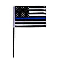 Thin Blue Line American 4x6 Stick Flag
