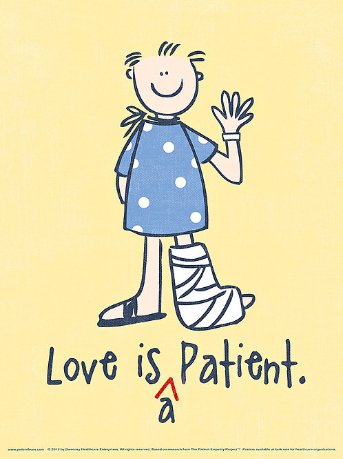 Love is a Patient Poster