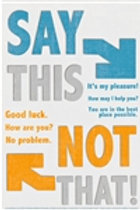 Say This - Not That Poster