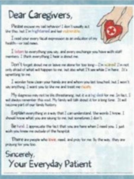 Dear Caregivers Poster