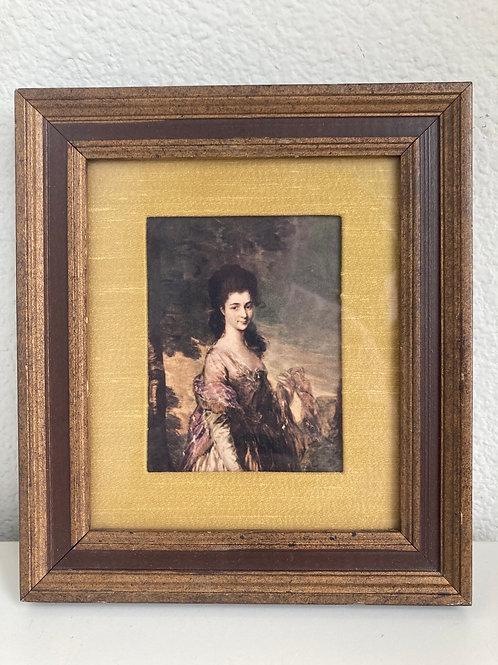 Vintage Fleck Bros. Framed Portrait of a Lady