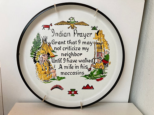 Vintage Hanging Circular Indian Prayer