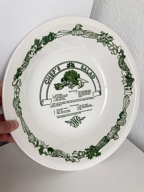 Vintage 1983 Royal China Co Chef's Salad Bowl