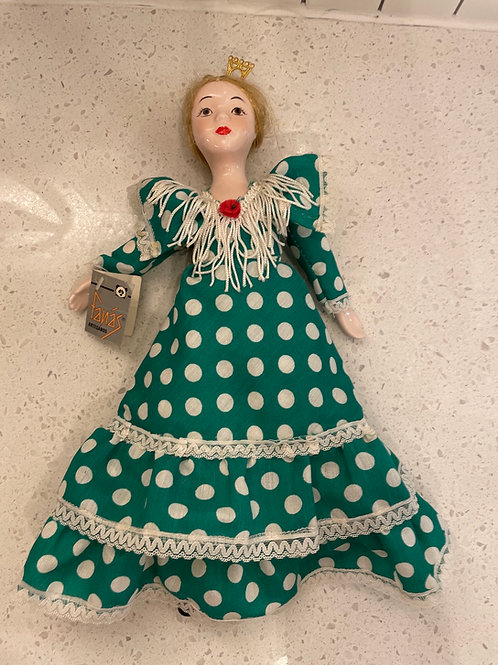 Vintage Fanas Porcelain Doll w/ Tags from Spain