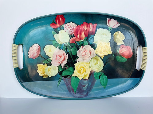 Vintage Floral Hanging Tray