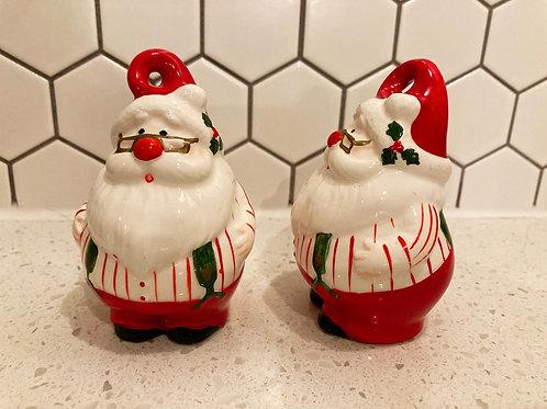 Set of 2 Vintage Fitz & Floyd OCI Santa Claus Figurines
