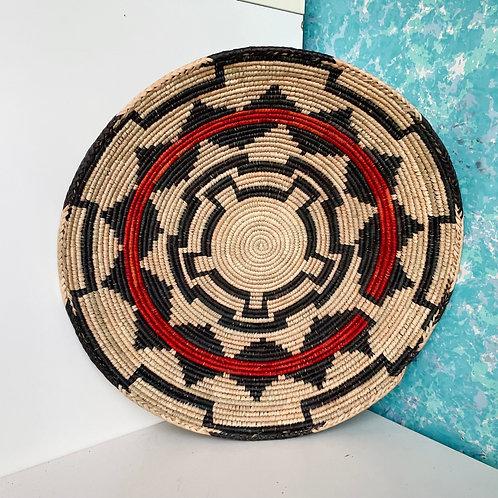 "13.0"" Handmade Southwest Style Decorative Coil Basket #06"