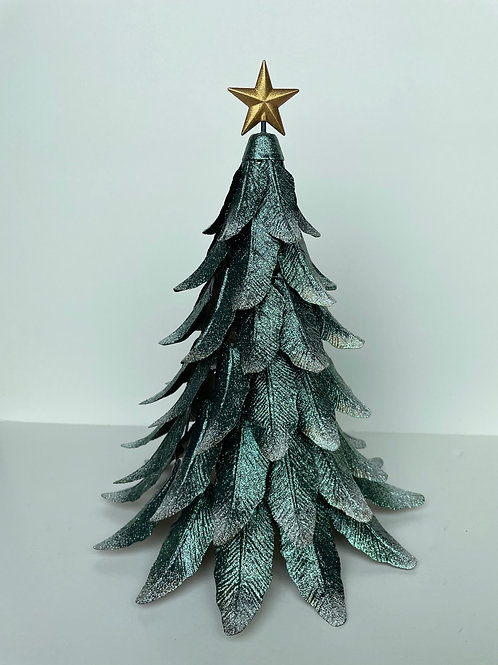 Metal Green Sparkly Christmas Tree