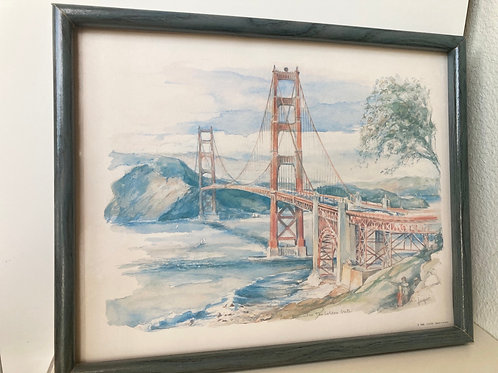 "Vintage ""San Francisco The Golden Gate"" Print by Legai"
