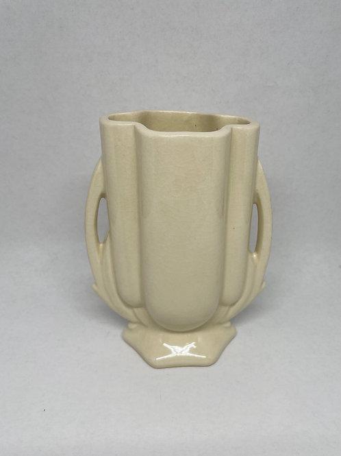 Vintage Handmade Cream Ceramic Vase