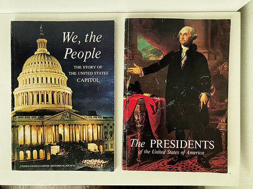 Set of 2 Paperback 80s United States Capitol & Presidents Books