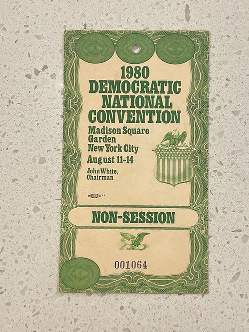 1980 Democratic Natl Convention Ticket