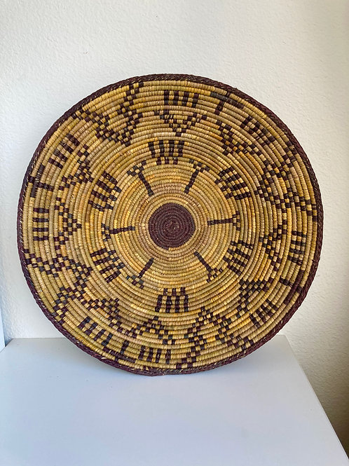 "15"" Handmade Southwest Style Decorative Coil Basket #1"