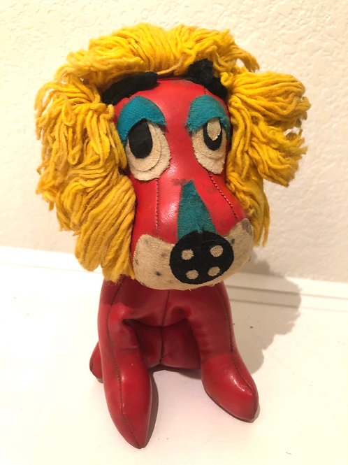 Vintage stuffed Lion figurine