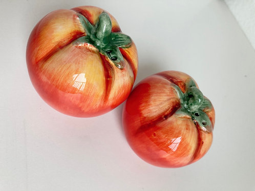 Set of Vintage Tomato Salt & Pepper Shakers