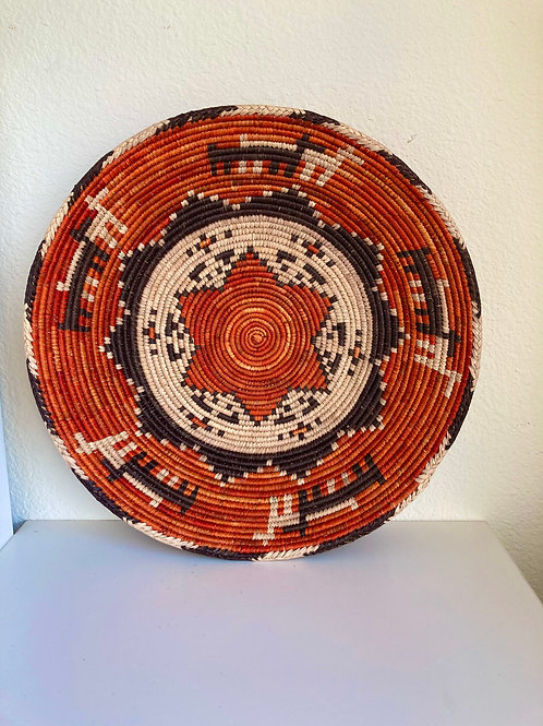 "13.5"" Handmade Southwest Style Decorative Coil Basket #8"