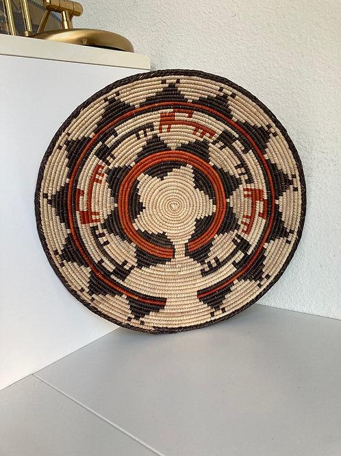 "14"" Handmade Southwest Style Decorative Coil Basket #24"