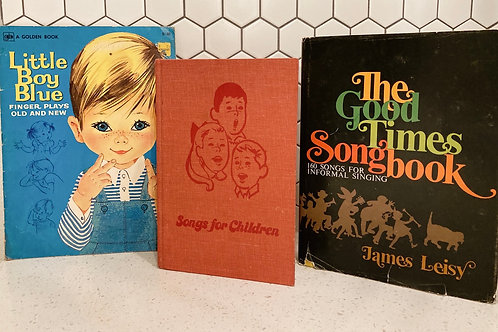 Set of 3 Vintage Song Books