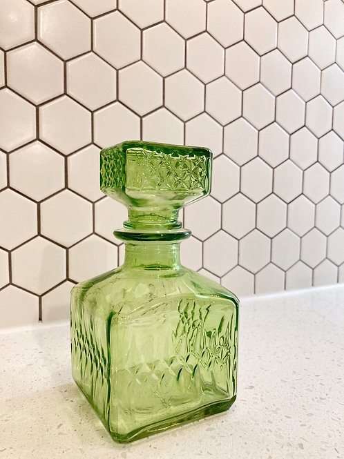 Vintage Green Small Whiskey Decanter