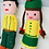 Thumbnail: Vintage Set of 2 Handmade Crocheted Girl & Boy Dolls