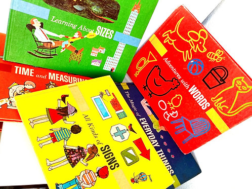 intage Set of 5 Britannica's Pre-School Library First Adventures in Learning 2