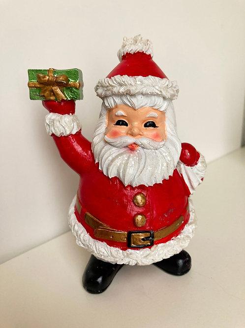 Vintage Santa with Present