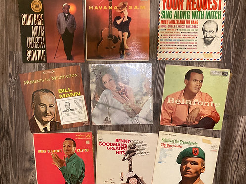 Set of 9 Misc Vintage Records