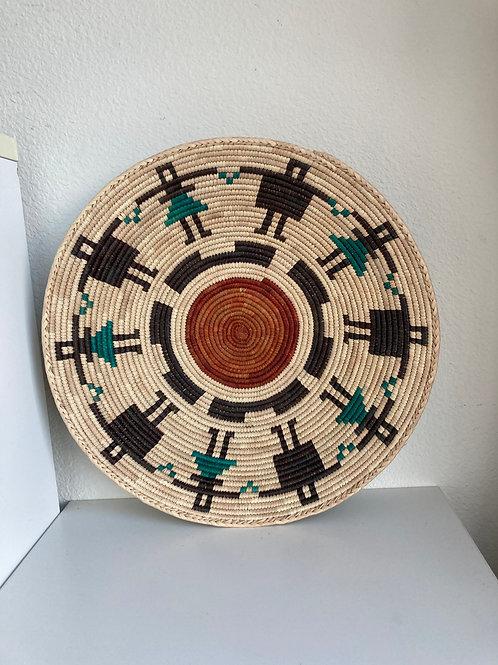 "15"" Handmade Southwest Style Decorative Coil Basket #3"
