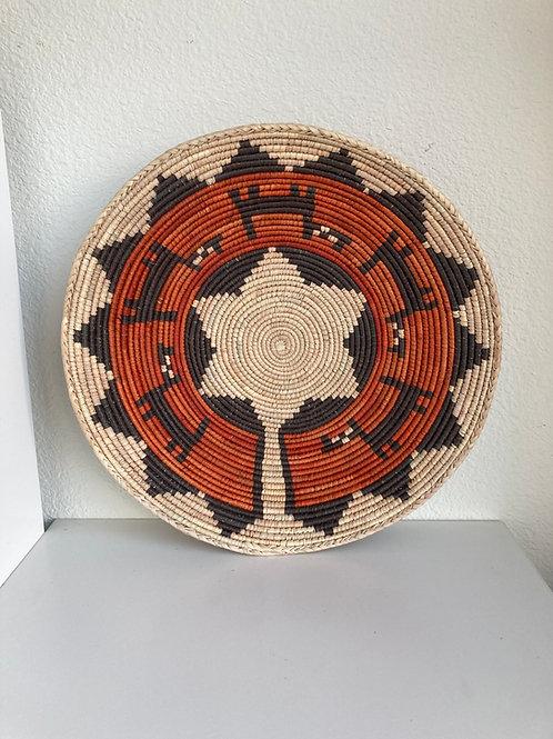 "13.5"" Handmade Southwest Style Decorative Coil Basket #14"