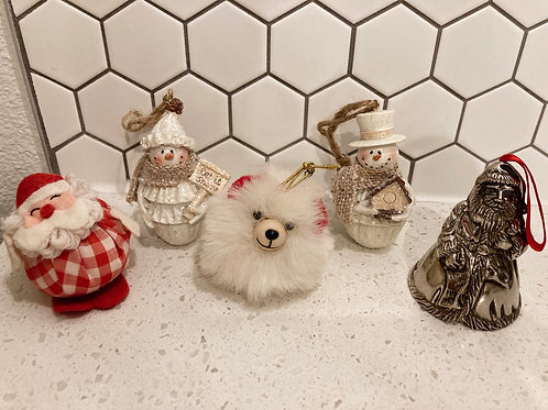 Set of 5 Vintage Ornaments