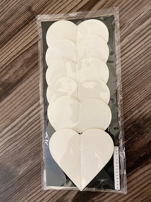 Handmade White Paper Heart Garland