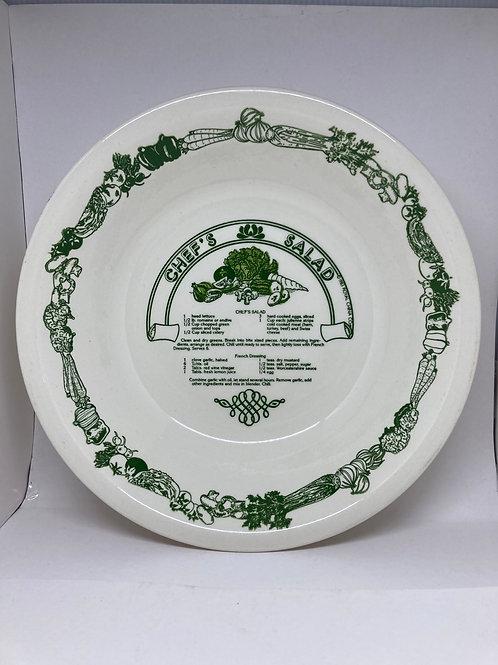 "Vintage Royal China Garden Classic ""Chef's Salad"" Recipe Salad Bowl"
