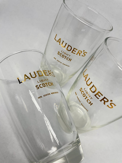 Set of 3 Vintage Lauder's Whiskey Glasses