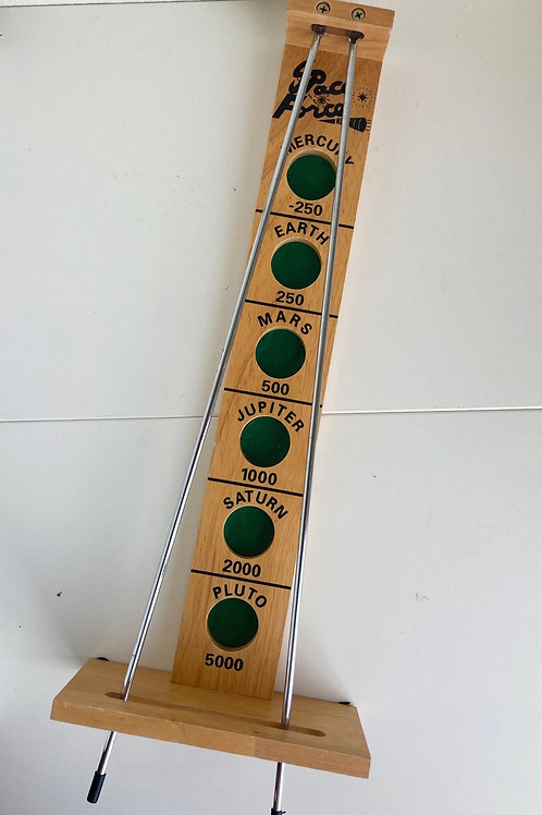 Vintage Wooden Space Force Skill Game by Cardinal