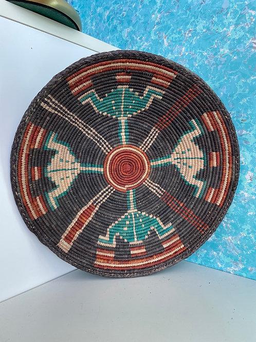 "13.0"" Handmade Southwest Style Decorative Coil Basket #23"