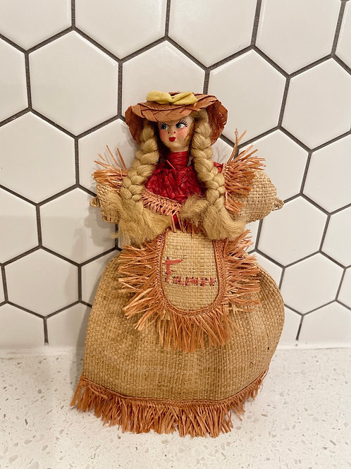 Vintage Frenze Straw Doll