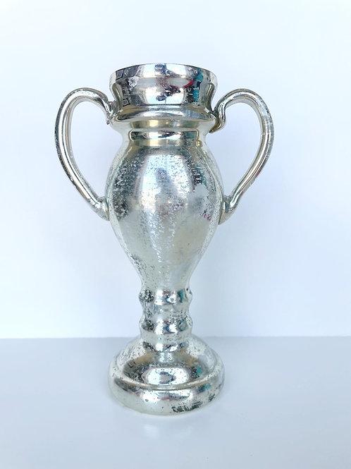 Mercury Glass Trophy Vase