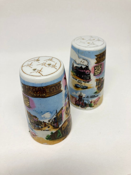 Vintage Virgina City, Nevada Souvenir Salt & Pepper Shakers