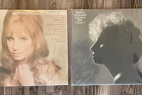 Set of 2 Barbara Streisand Vintage Records