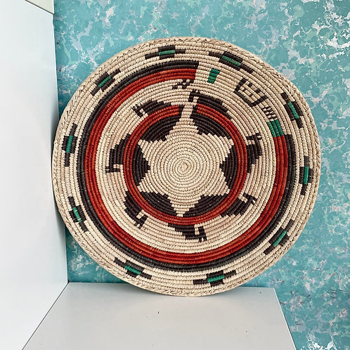 "14.0"" Handmade Southwest Style Decorative Coil Basket #03"