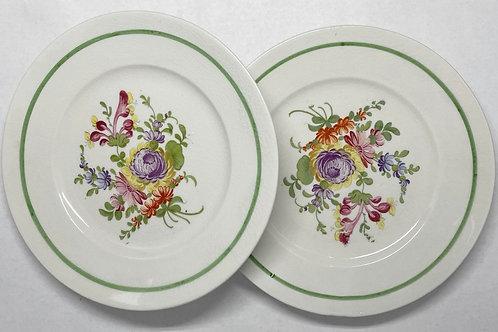 Set of 2 Semi Porcelain Plates